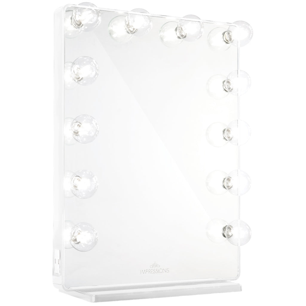 Impressions Hollywood Glow XL 2.0 Vanity Mirror in White with Clear LED