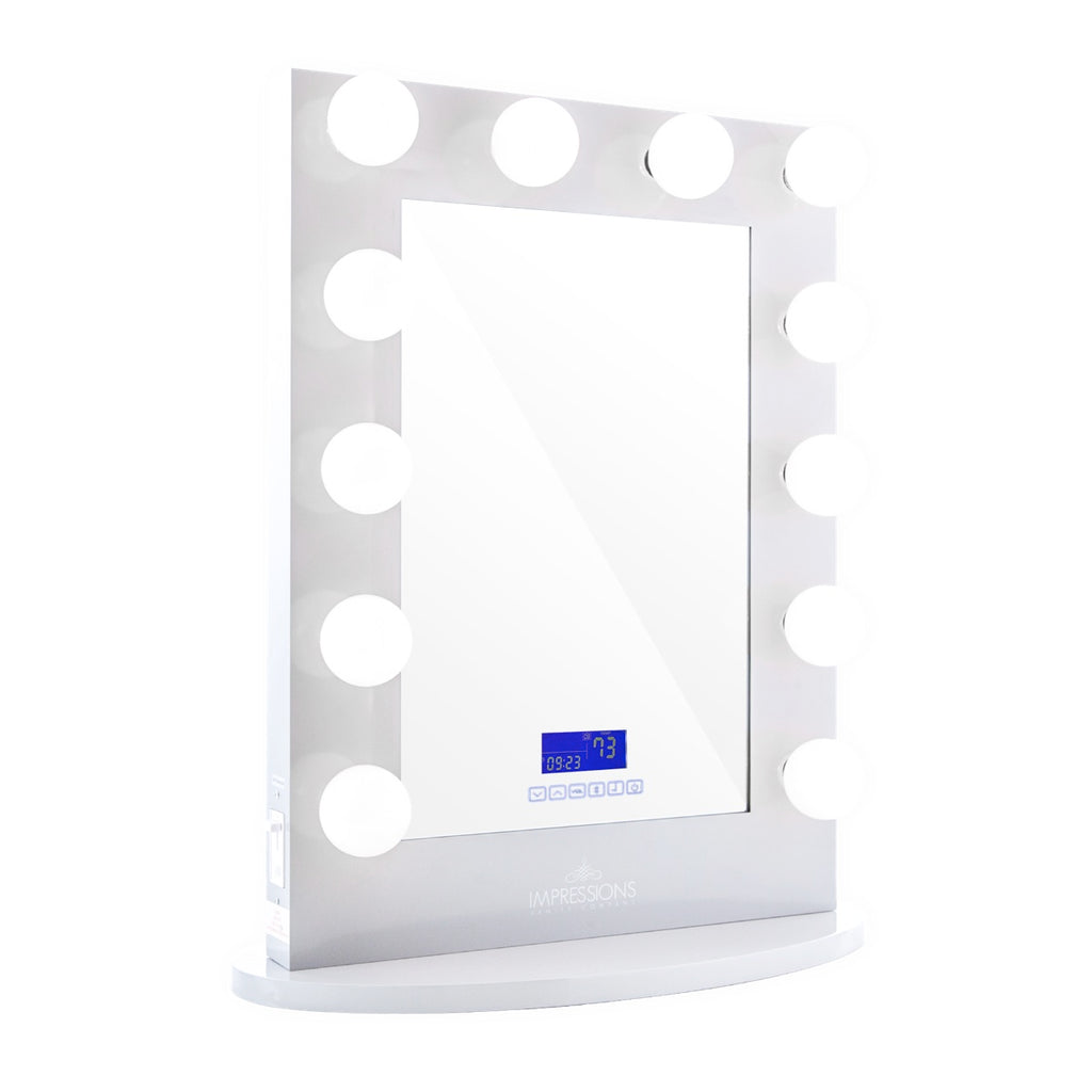 Impressions Hollywood Iconic XL Lighted Bluetooth Vanity Mirror in White