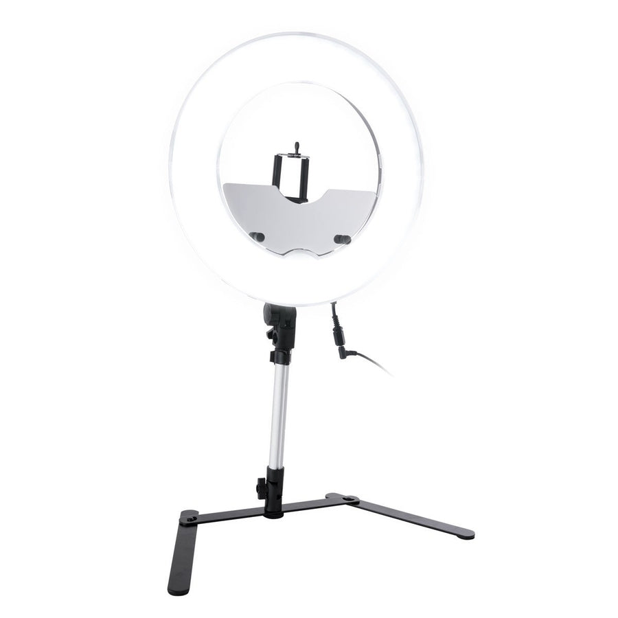 Impressions Vanity Dimmable Desktop LED Ring Light with Accessories