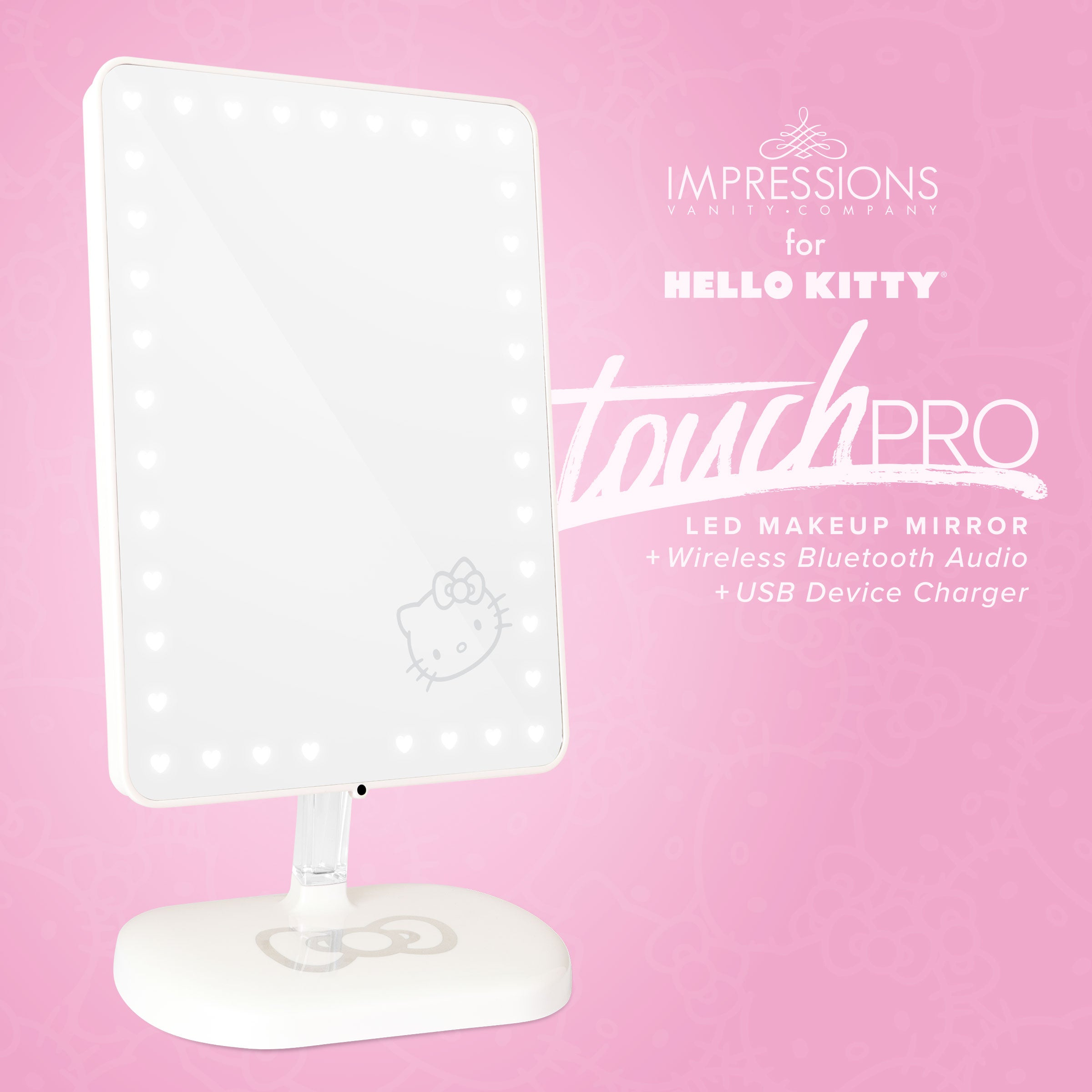Hello Kitty Edition Touch Pro Led Makeup Mirror With Bluetooth Audio