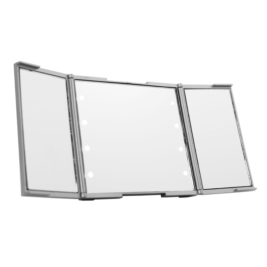 Revealight Trifold Led Compact Mirror With Flip Stand