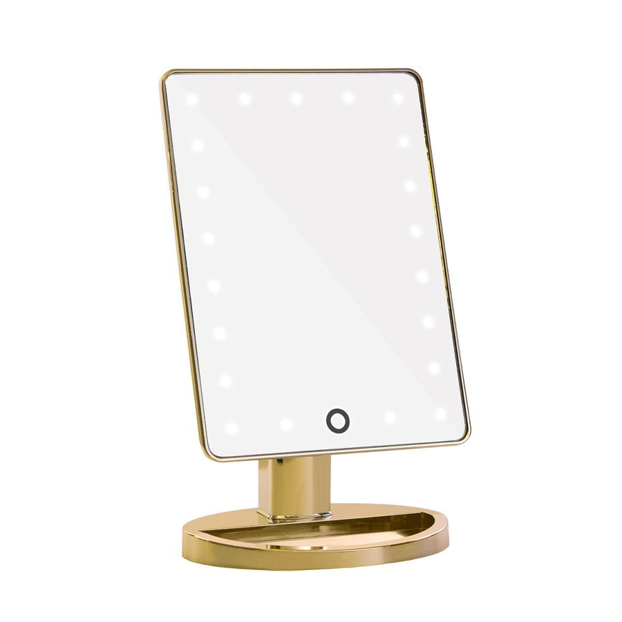 Touch 2.0 Dimmable LED Makeup Mirror in Gold Chrome