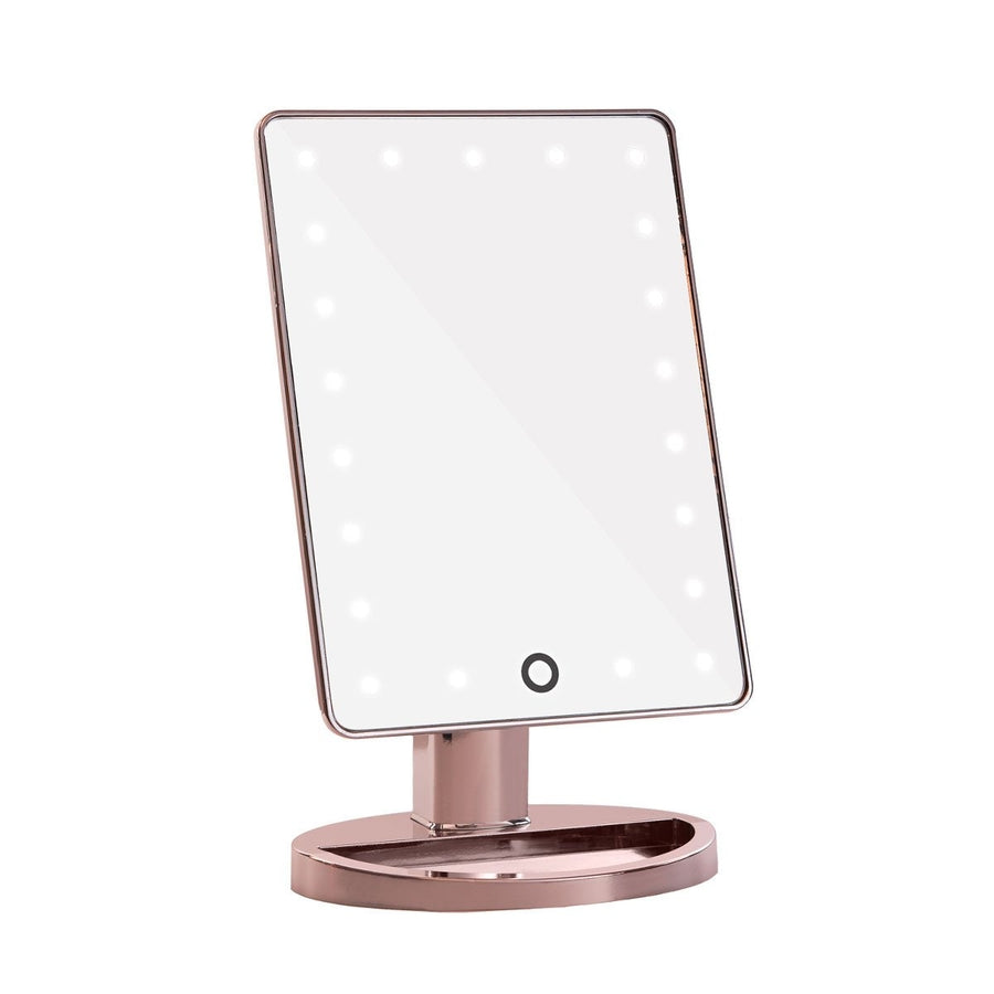 Touch 2.0 Dimmable LED Makeup Mirror in Rose Gold Chrome