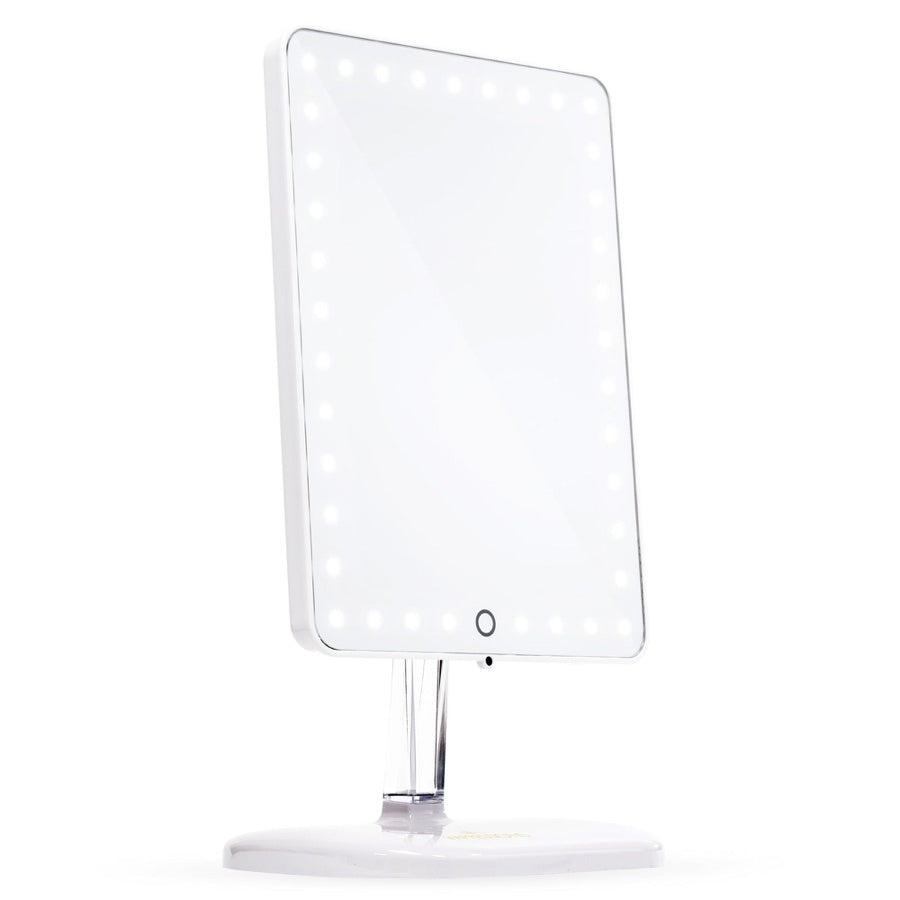Impressions Vanity Touch Pro LED Makeup Mirror with Bluetooth Wireless  Audio   Speakerphone   USB Charger. Impressions Vanity Co    Touch Pro LED Makeup Mirror with