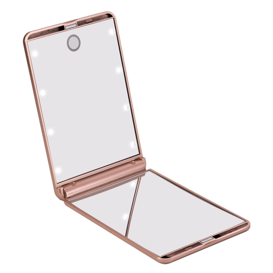 Impressions Vanity TouchUp Dimmable LED Makeup Compact Mirror in Rose Gold