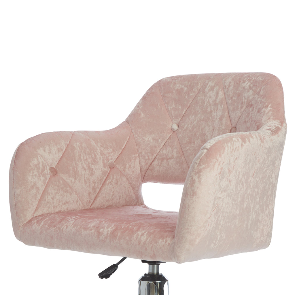 Brittney Tufted Leatherette Vanity Chair Impressions Vanity Co