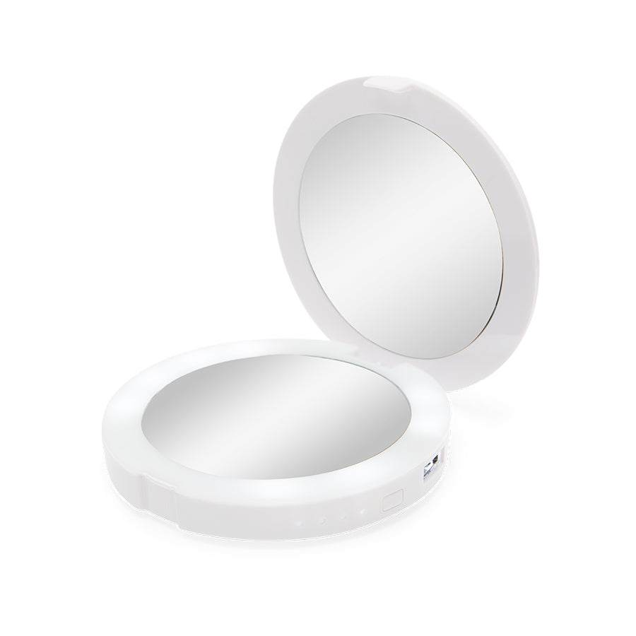 ChargeUp LED Compact Mirror & USB Power Bank