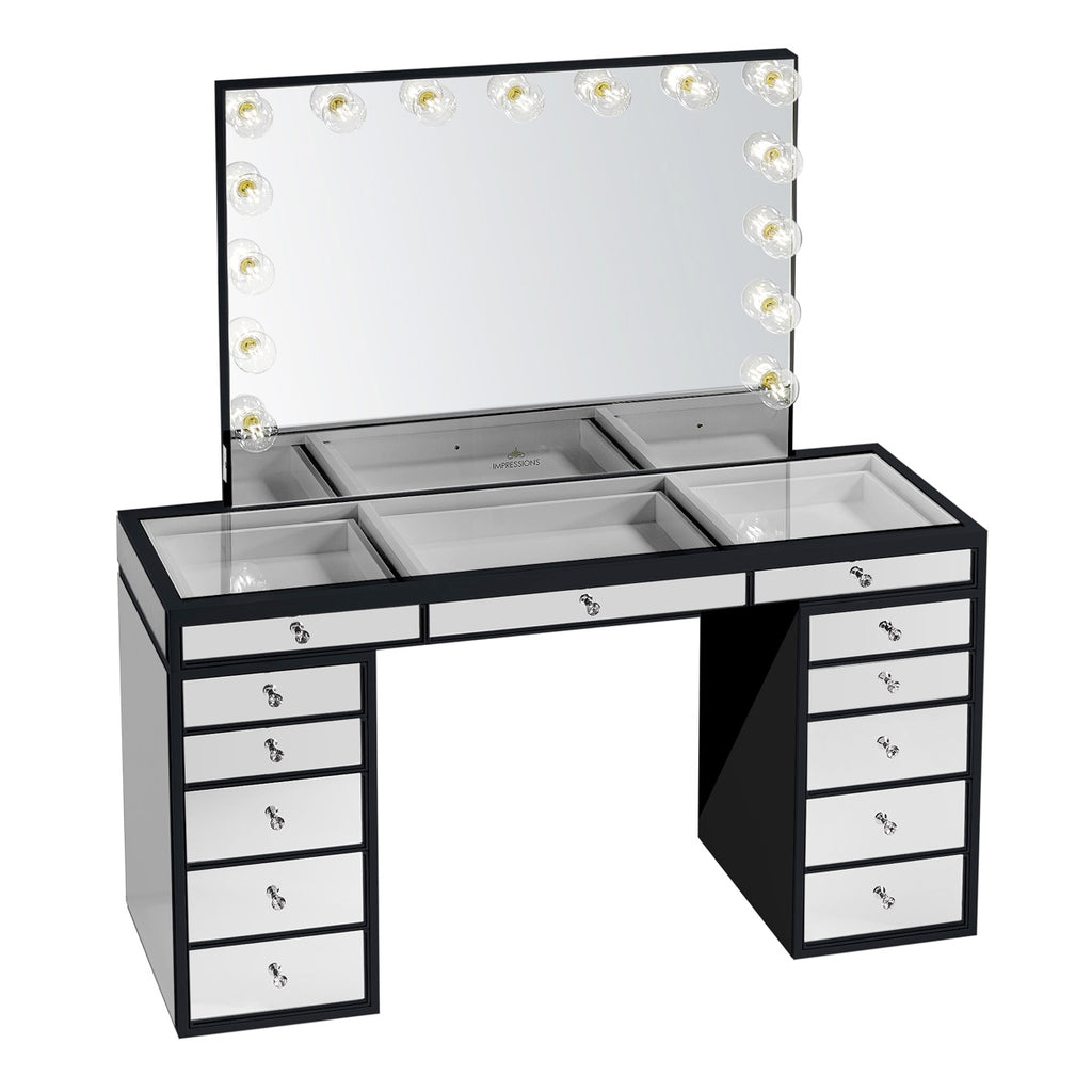 Slaystation Pro Premium Mirrored Vanity Table Impressions Vanity Co