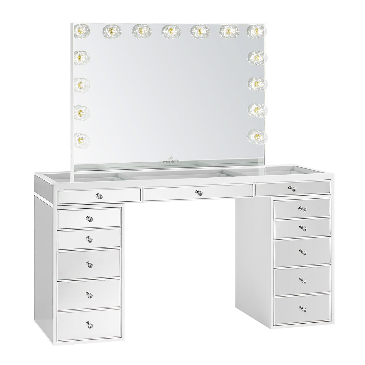 SlayStation® Pro Premium Mirrored Vanity Table ...