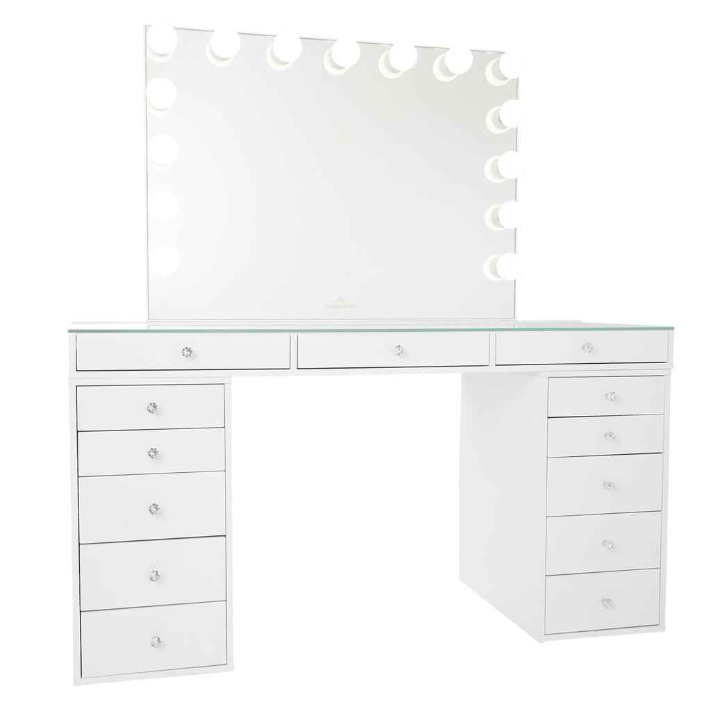 Slaystation 174 Pro 2 0 Tabletop Vanity Mirror 5 Drawer