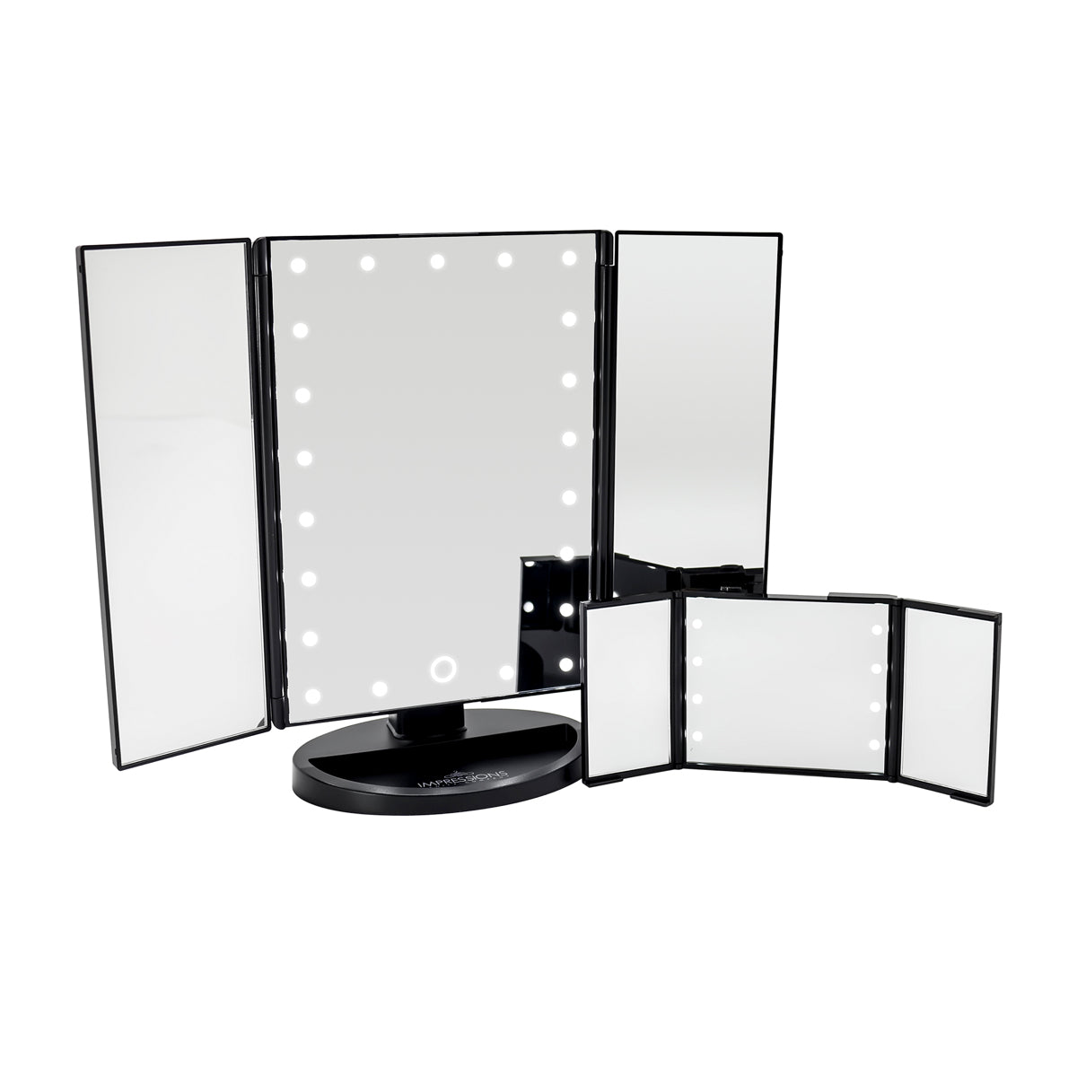 Touch Go Trifold Makeup Mirror Bundle Impressions Vanity Co