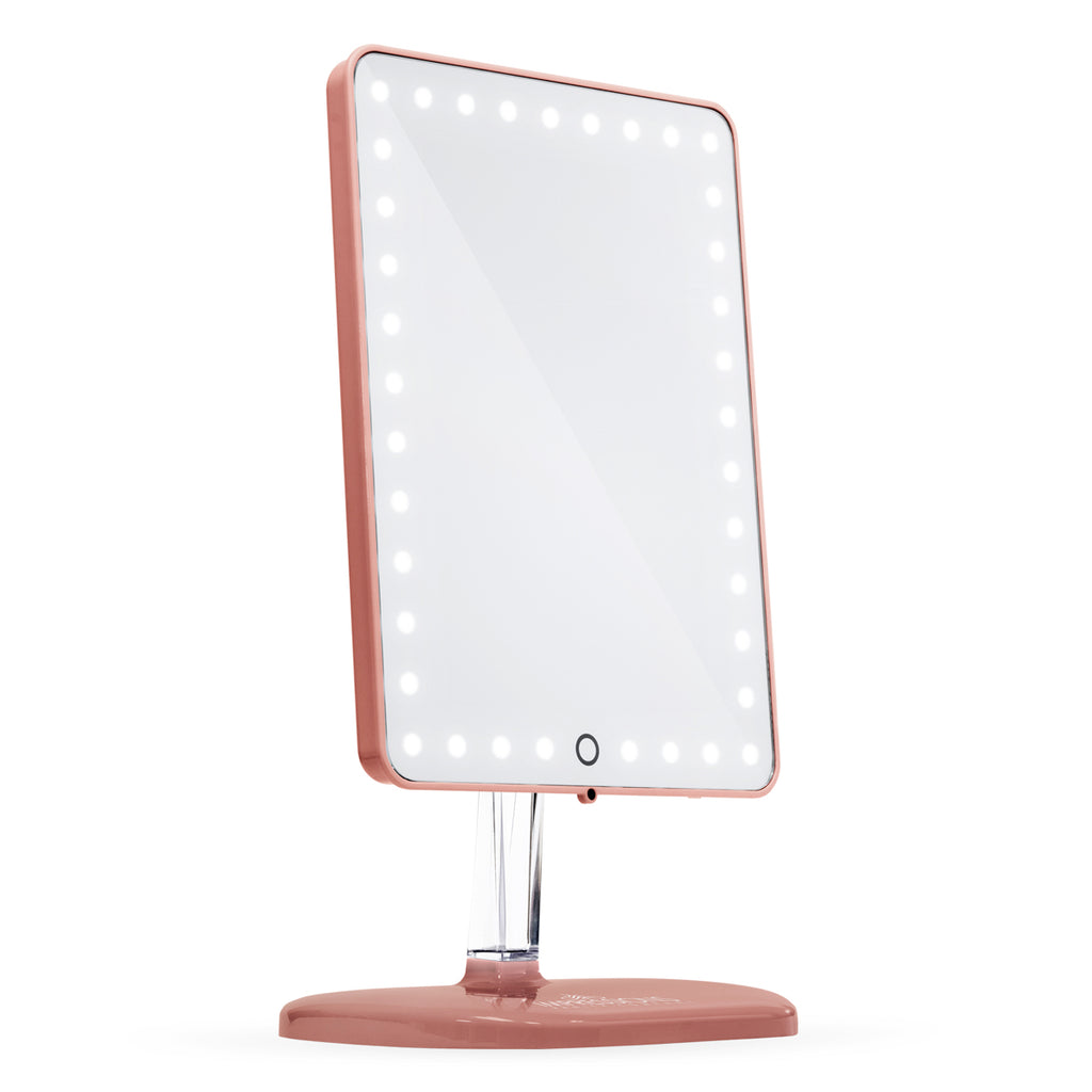 Touch Pro LED Makeup Mirror with Bluetooth Audio+Speakerphone \u0026 USB Charger