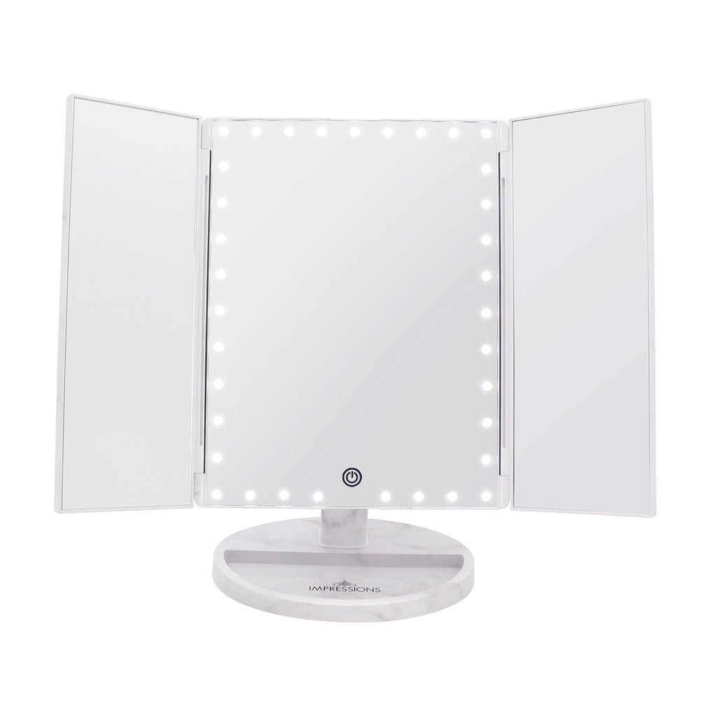 Touch Trifold XL Dimmable LED Makeup Mirror