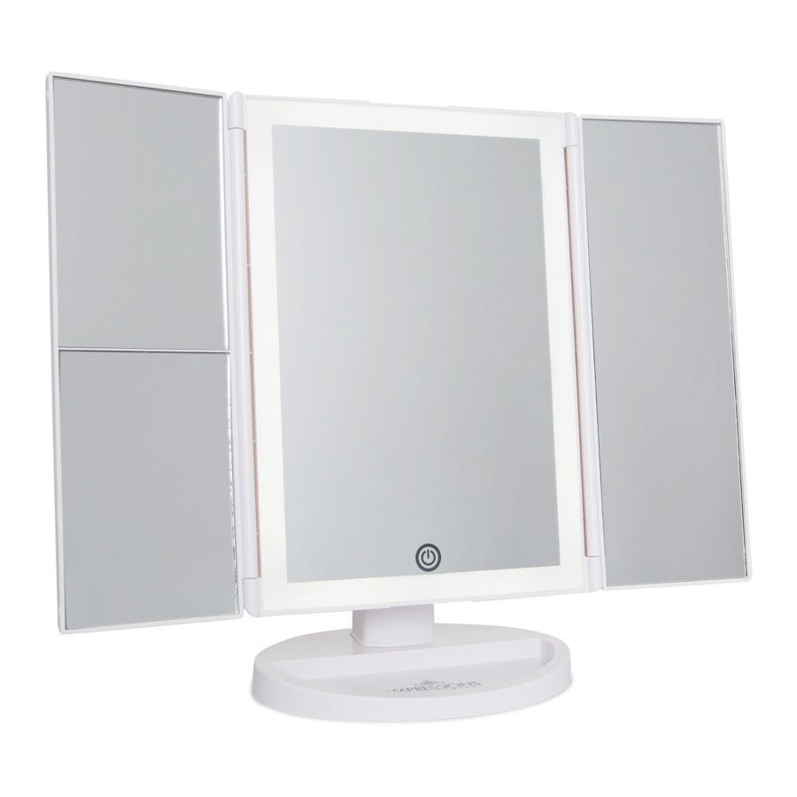 Touch Trifold 2.0 LED Makeup Mirror with Magnification