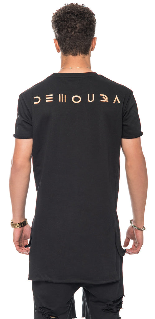 Black 4-panels T-Shirt