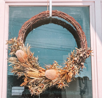 CHRISTMAS EVER LASTING DRIED WREATH - LARGE