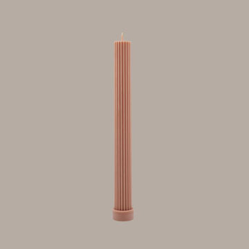 BLACK BLAZE - COLUMN PILLAR CANDLE // PEACH