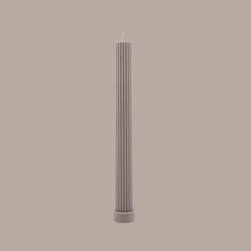 BLACK BLAZE - COLUMN PILLAR CANDLE // BEIGE