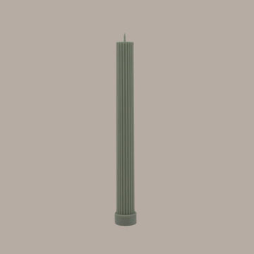 BLACK BLAZE - COLUMN PILLAR CANDLE // EUCALYPTUS