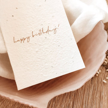 HELLO PETAL CARDS - MINIMAL BIRTHDAY BLOOMING CARD