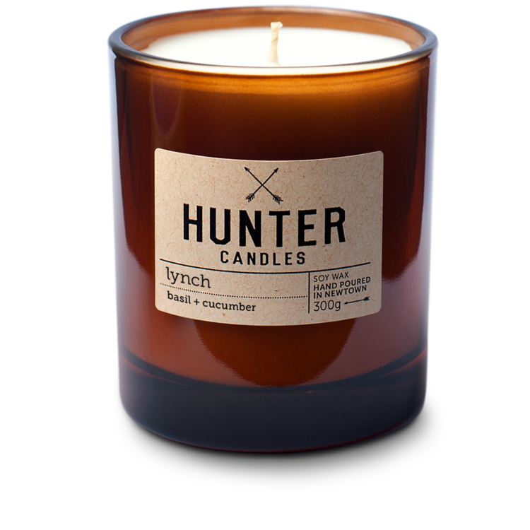 HUNTER CANDLES - LYNCH // BASIL & CUCUMBER
