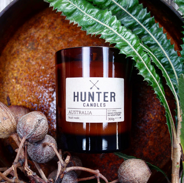 HUNTER CANDLES - AUSTRALIA // BLUE GUM + LEMON MYRTLE + WATTLE