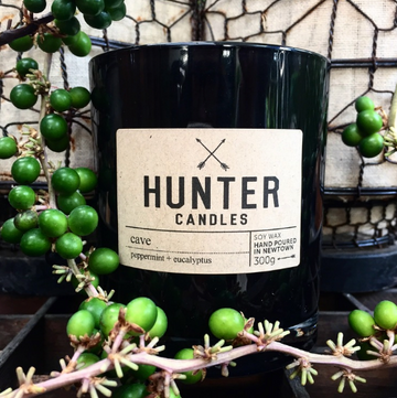 HUNTER CANDLES - CAVE // PEPPERMINT + EUCALYPTUS