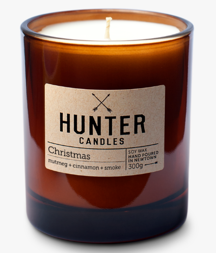 HUNTER CANDLES - CHRISTMAS // NUTMEG + CINNAMON + SMOKE