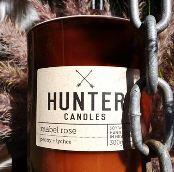 HUNTER CANDLES - MABEL ROSE // PEONY + LYCHEE