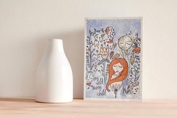 HELLO PETAL - STAY WILD MOON CHILD BLOOMING CARD