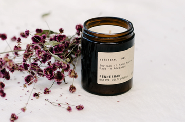ETIKETTE CANDLES - PENNESHAW // NATIVE WILDFLOWERS & HONEY