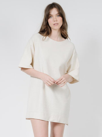 THRILLS - TERRY SLOUCH TEE DRESS // UNBLEACHED