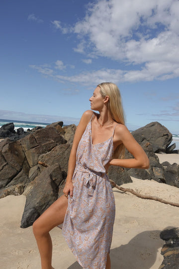 INDIAN SUMMER CO - SIERRA SLIP DRESS // PERIWINKLE