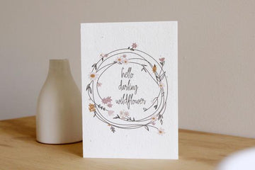 HELLO PETAL - WILDFLOWER BLOOMING CARD