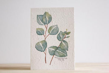 HELLO PETAL - GROW WILD AND FREE LITTLE ONE BLOOMING CARD