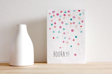HELLO PETAL - HOORAY! BLOOMING CARD