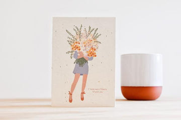 HELLO PETAL - IF MUMS WERE FLOWERS BLOOMING CARD