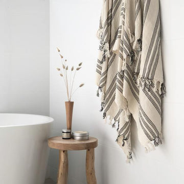 ONEFINESUNDAY CO - LINEN TUKISH TOWEL // SANTORINI