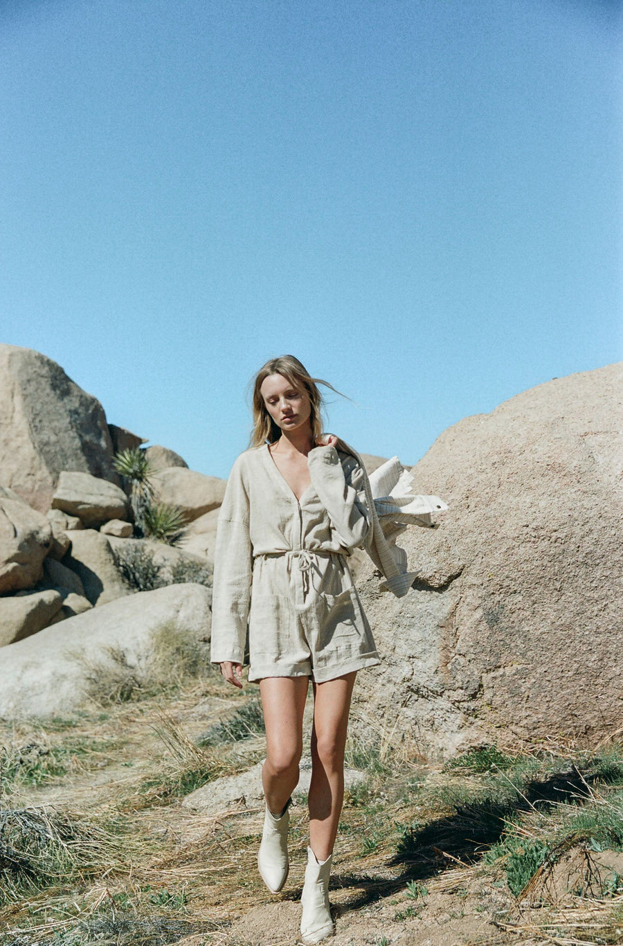 ROWIE THE LABEL - RAPHY PLAYSUIT DUNE