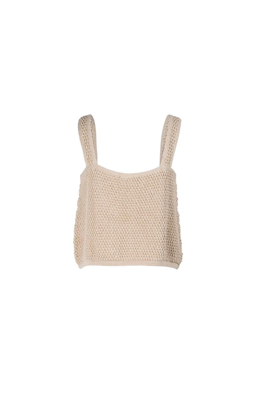 INDIAN SUMMER CO - GOLDEN HOUR KNIT TANK // ALMOND