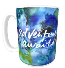 15oz art ceramic coffee mug adventure awaits