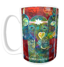15oz ceramic art mug abstract vibrant colorful elephant