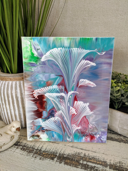 abstract multi color flower painting