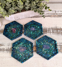 Coasters #12 - Octagon Epoxy set of 4 - Sold