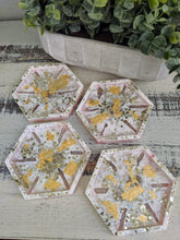 Coasters #17- Octagon Epoxy set of 4 - Sold