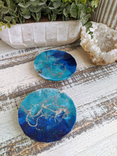 Coasters #25- Round Epoxy with feet - set of 2 - Sold