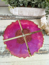 Coasters #20 - Triangle agate Epoxy set of 4 - Sold