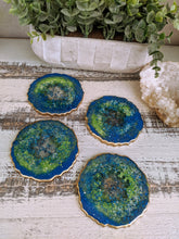 Coasters #30- Agate Epoxy set of 4 - Sold