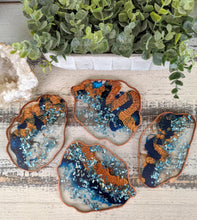 Coasters #58 - Agate Epoxy set of 4