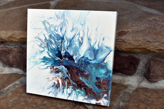 abstract blue bronze splashes